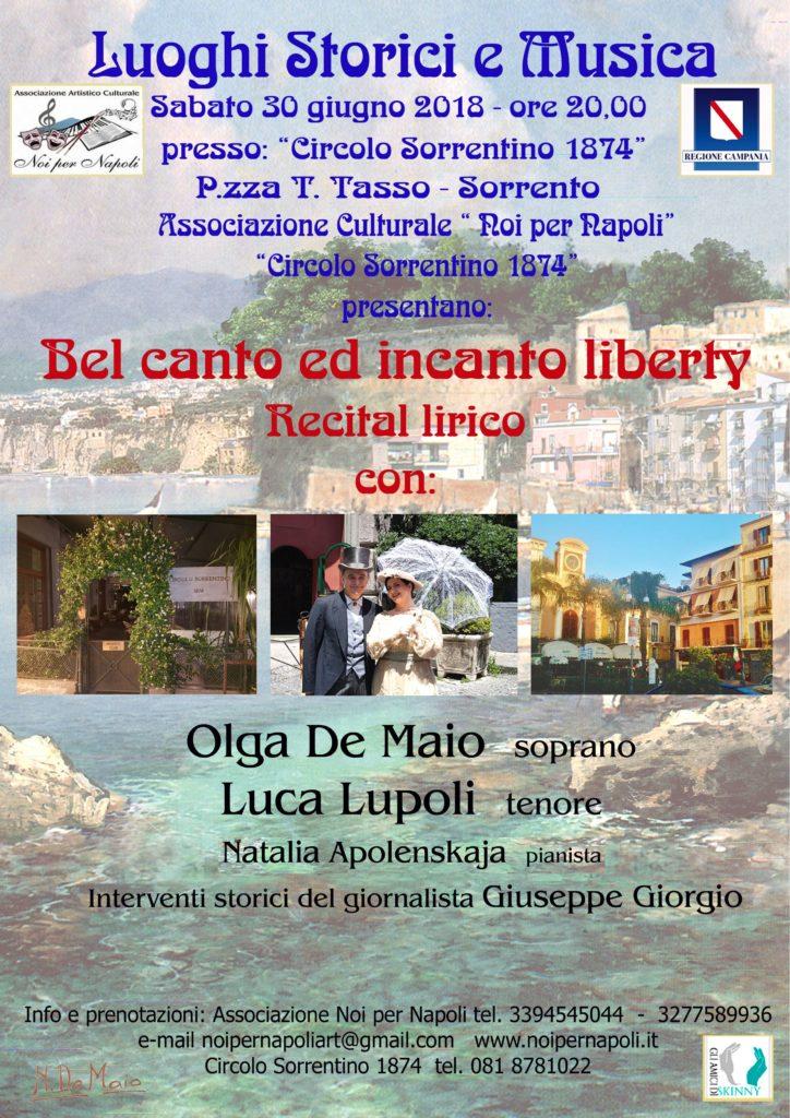 Belcanto In Salotto.Bel Canto Ed Incanto Liberty Associazione Noi Per Napoli